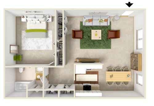 Oakwood Manor Apartments floor plans